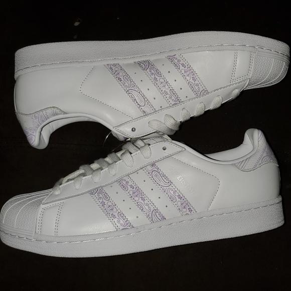 adidas Other - Adidas Superstar White & Purple Men US 11